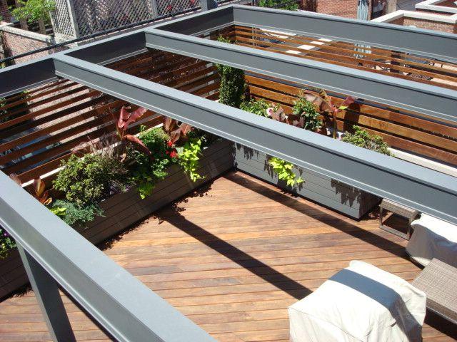 73 Best Urban Deck Images On Pinterest Architecture Landscaping - roof deck garden designs