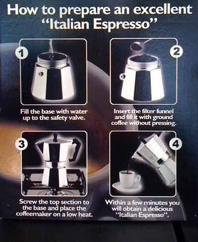 Haven't used an espresso pot since HS job at Red Moon... can't wait to try it again!
