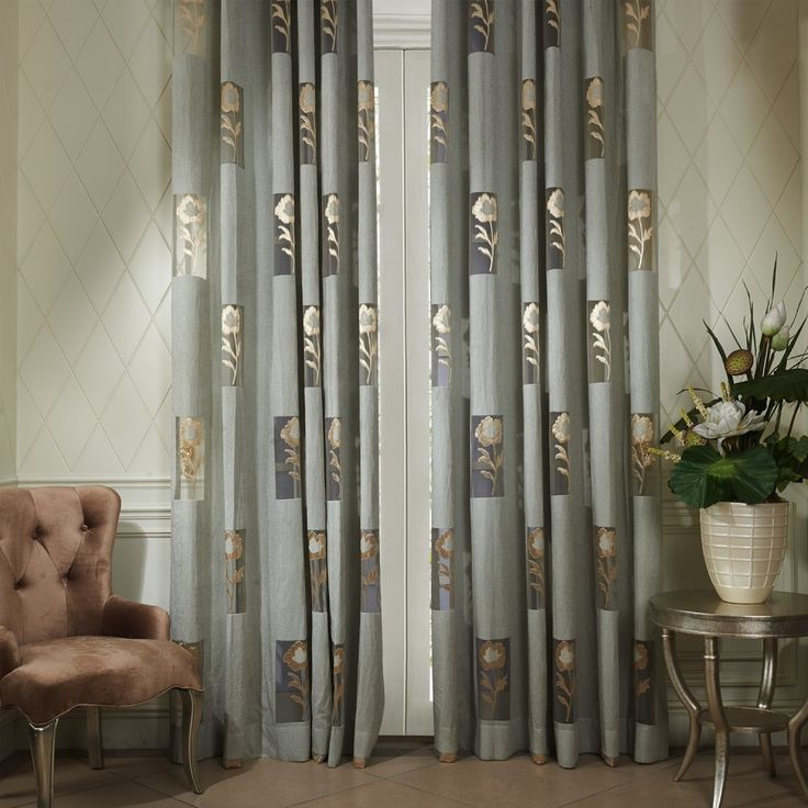 Modern Flower In Rectangular Area Sheer Curtain Sheercurtain Custommade Curtains