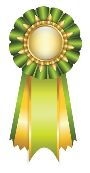 Green Rosette Ribbon PNG Clipart Picture