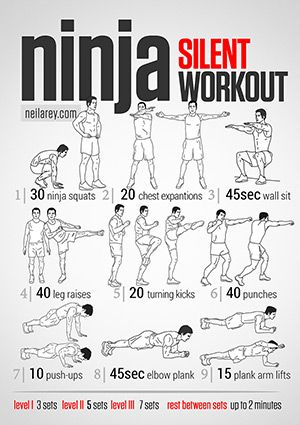 Ninja Workout - for those late night workouts, when everyone in your building is sleeping lol