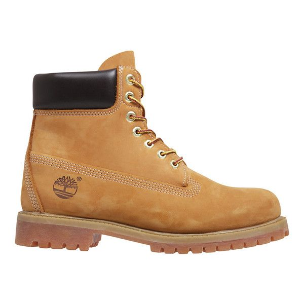 Timberland Men's Icon 6 Inch Premium FTB Leather Boots ($215) ❤ liked on Polyvore featuring men's fashion, men's shoes, men's boots, shoes, boots, boy, men, tan, timberland mens shoes and mens shoes