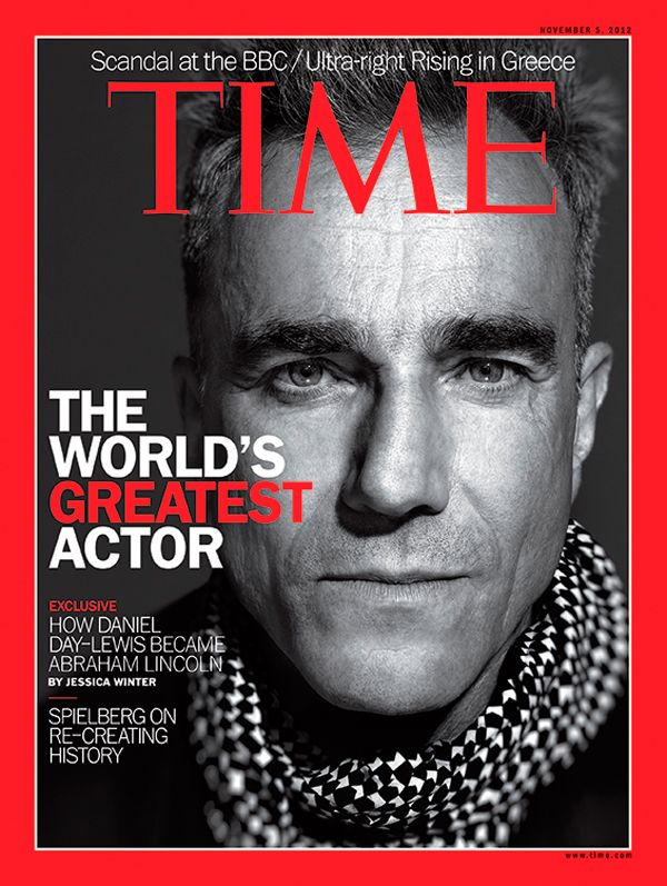 Daniel Day-Lewis: How the Greatest Living Actor Became Lincoln: http://entertainment.time.com/2012/10/25/daniel-day-lewis-in-lincoln-hail-to-the-chief/ ... Inside This Cover: http://www.time.com/time/magazine/europe/0,9263,901121105,00.html ... Steven Spielberg, Daniel Day-Lewis and Tony Kushner on the Terrifying Process of Making Lincoln: http://entertainment.time.com/2012/10/26/steven-spielberg-daniel-day-lewis-and-tony-kushner-on-the-terrifying-process-of-making-lincoln/