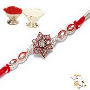 Send Silver Rakhi with 100 gms of Kaju katli For Your Brother