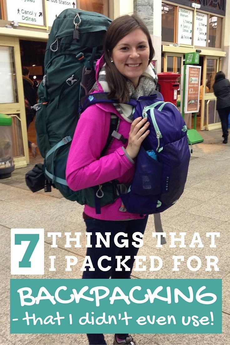 7 Things That I Packed for Backpacking - That I Didn't Even Use! | Learning how to live out of a backpack is a daunting task! As you can guess, I packed way too much. So here I have listed 8 items that I packed for backpacking – but have never needed.
