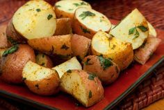Herb-Roasted Red Bliss Potatoes Trying on 2/14/14.  Substituted rosemary for oregano.  With turkey