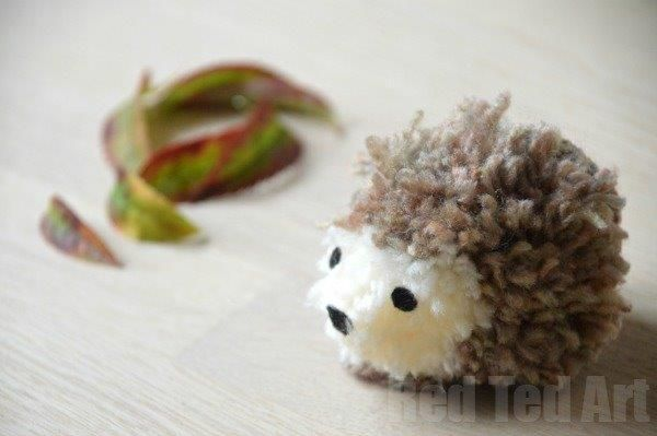 Adorable Pom Pom Hedgehog from Red Ted Art