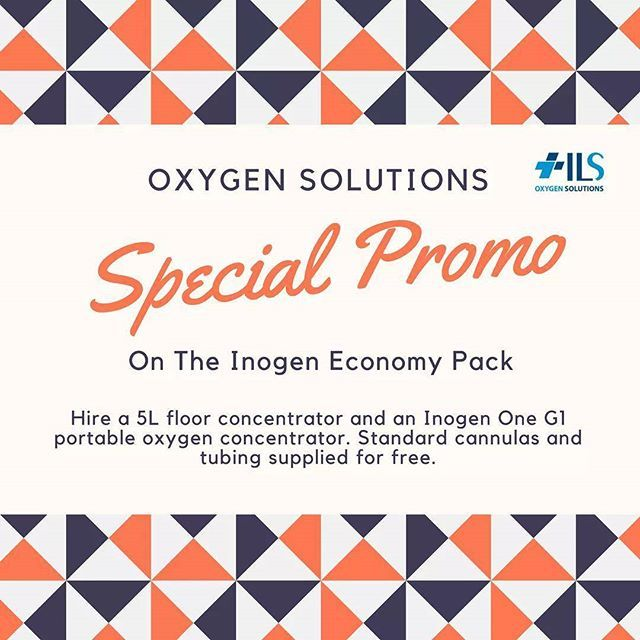 **Special Promotion : #Inogen Economy Pack** Hire a 5L floor concentrator and an Inogen One G1 portable oxygen concentrator. Standard cannulas and tubing supplied for free.  $199 for 4 weeks hire.    Learn more : http://oxygensolutions.com.au/promotions/    #SpecialPromo #OxygenSolutions