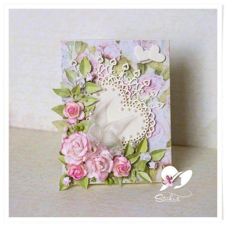 Studio-Madam: W Dniu Ślubu - z życzeniami - pudełeczko na kopert...