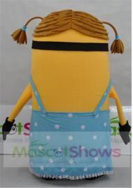Deguisement Mascotte Costumes Minion Moi Moche et Méchant Fille Despicable Me 2 Stuart Girl Minion