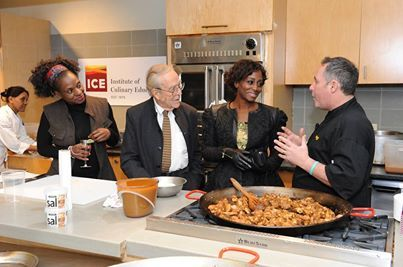 Instant Paella Party for Carmencita at the Institute of Culinary Education (ICE) with Bisila Bokoko, Gerry Dawes and Chef Paul Vella
