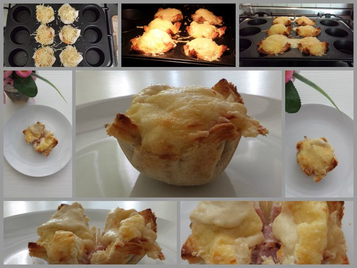 Rather posh breakfast..very proud of my version of Croque Madame Muffins by Rachel Khoo