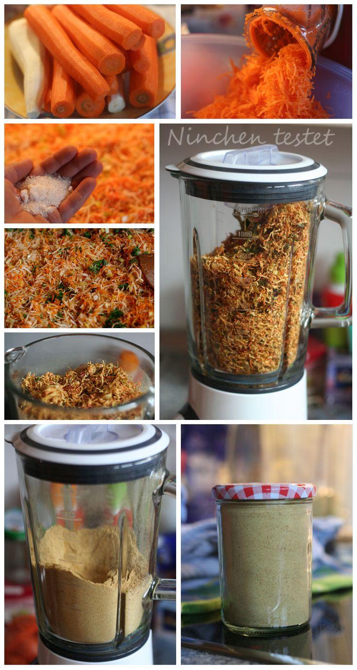 Suppenpulver aus Gemüse