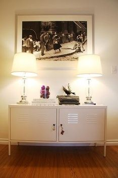 TV stands: PS Cabinet, white $259 Width: 119 cm Depth: 40 cm Height: 63 cm Max. load: 60 kg