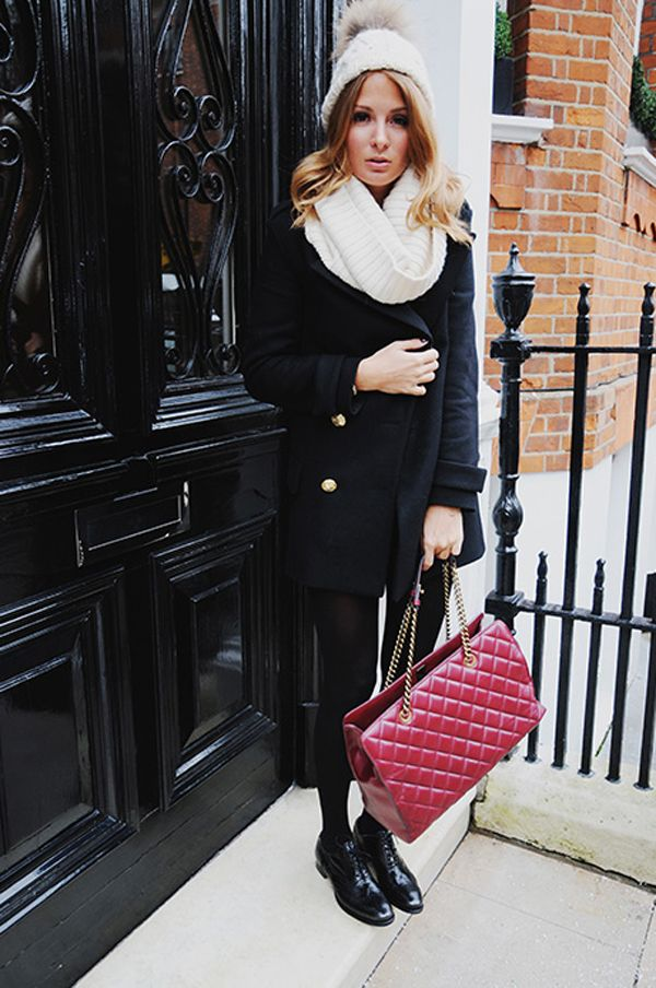 Chelsea socialite, Millie Mackintosh, wears wide rib Snood | ME+EM #WoolWeekCompetition
