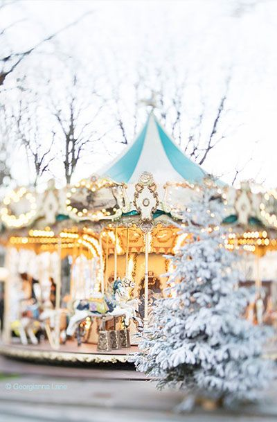 Paris Photography, Christmas Carousel in Paris
