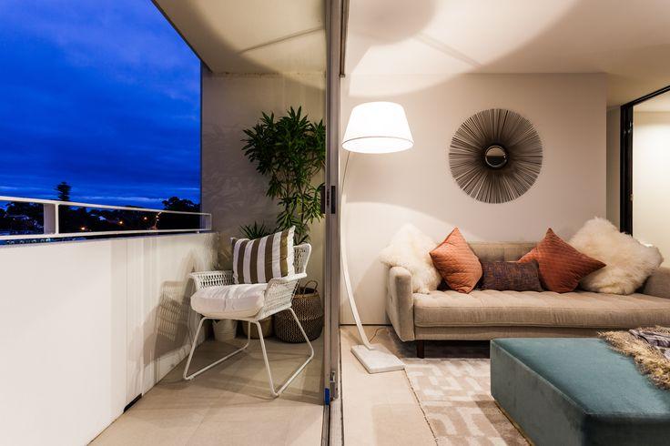 Apartment renovation - Inside outside by LDC. Claremont, Western Australia. #inside #outside #balcony #modern #modernapartment #smallapartment #apartment