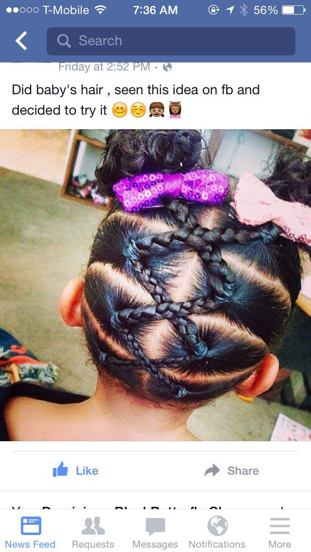 Cut black girl hair style