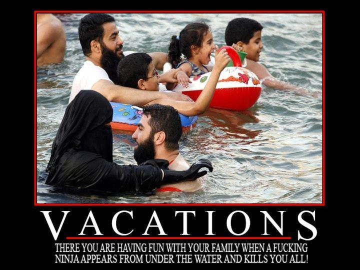 demotivational poster: vacations - there you are, having fun with