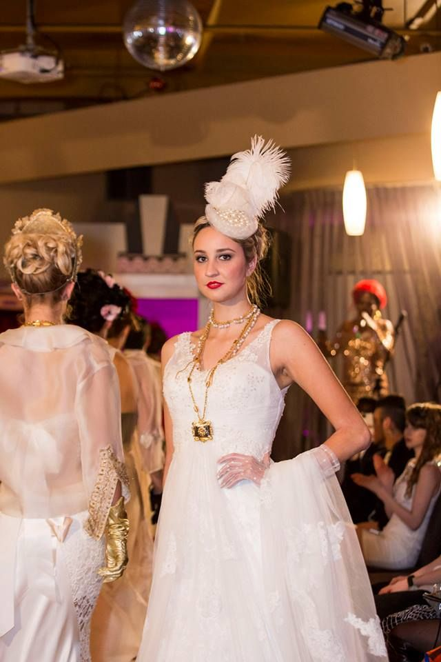 2014 MSFW Curated Program – ART du JOUR by Leiela, THE SPRING SOIRÉE featuring Judith Penak Couture Gown, headpiece by Vintage Designs and jewellery Stella Nemiro