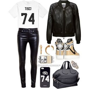 Instagram photo by styleismyobsession - Today's featured handbag: Givenchy Nightingale  Team Tisci (Facebook.com/MyMomentsInStyle)  Bomber: Moncler  T-Shirt: Les Artists Pants: Saint Laurent Shoes: Ricardo Tisci x Nike Air Force 1 Bag: Givenchy  Cuff: Hermès  Watch: Rolex Earrings: Vince Camuto  #lotd #ootd #style #stylish #stylist #styleinspiration #tomboychic #casualchic #givenchy #fashionable #fashion #fashionblog #fashionista #fashionblogger #fashiondiaries #mmis #whattowear…