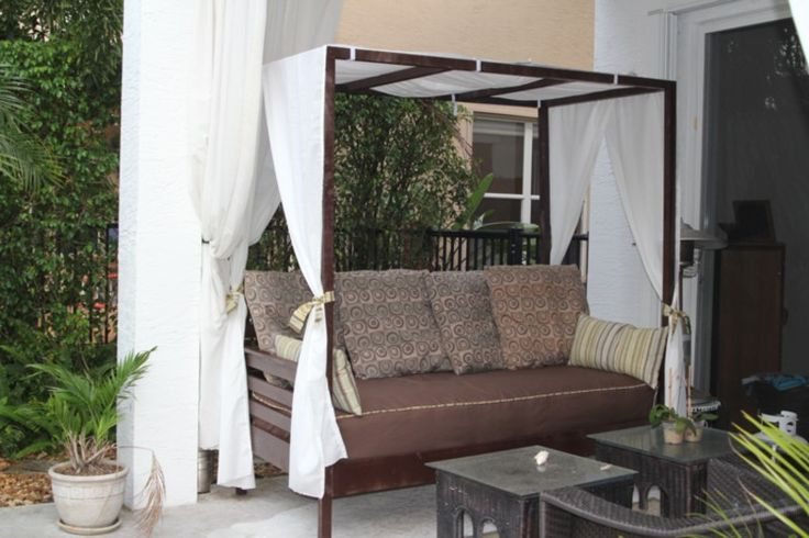 Outdoor Canopy Daybed | Do It Yourself Home Projects from Ana White