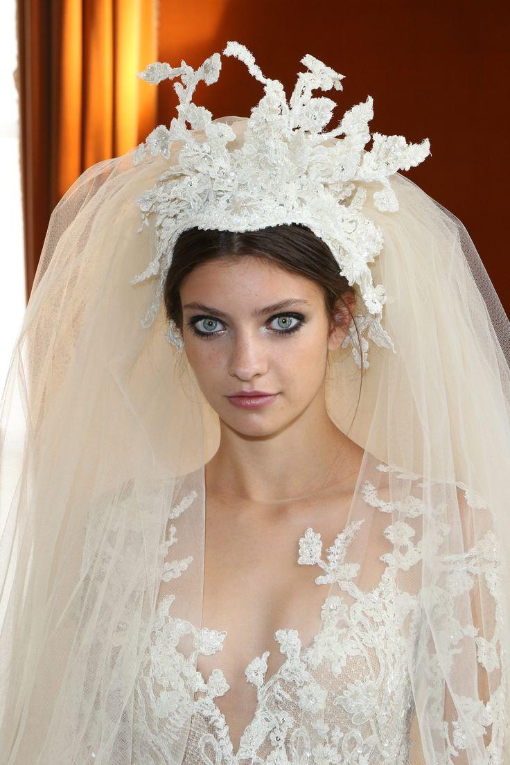 Bridal tiaras and veils -
