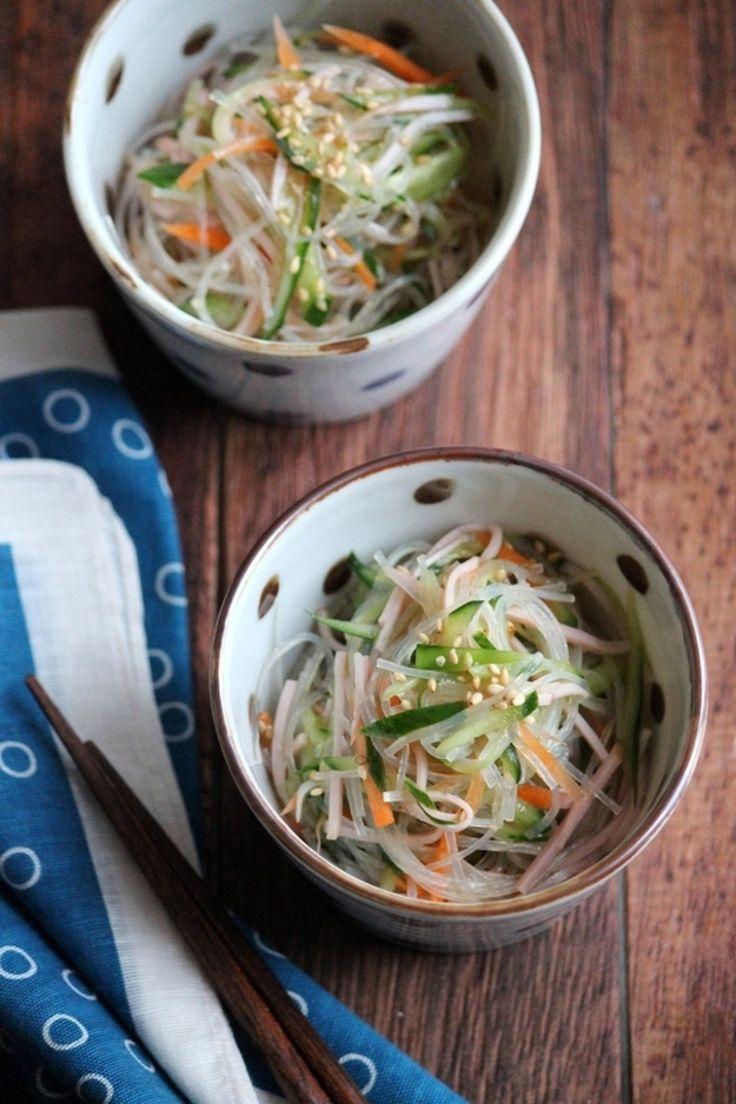簡単春雨サラダ。 by 栁川かおり / 思いついた時にぱぱっと作る簡単春雨サラダ。簡単な材料で簡単な調味量で作ります。 / Nadia