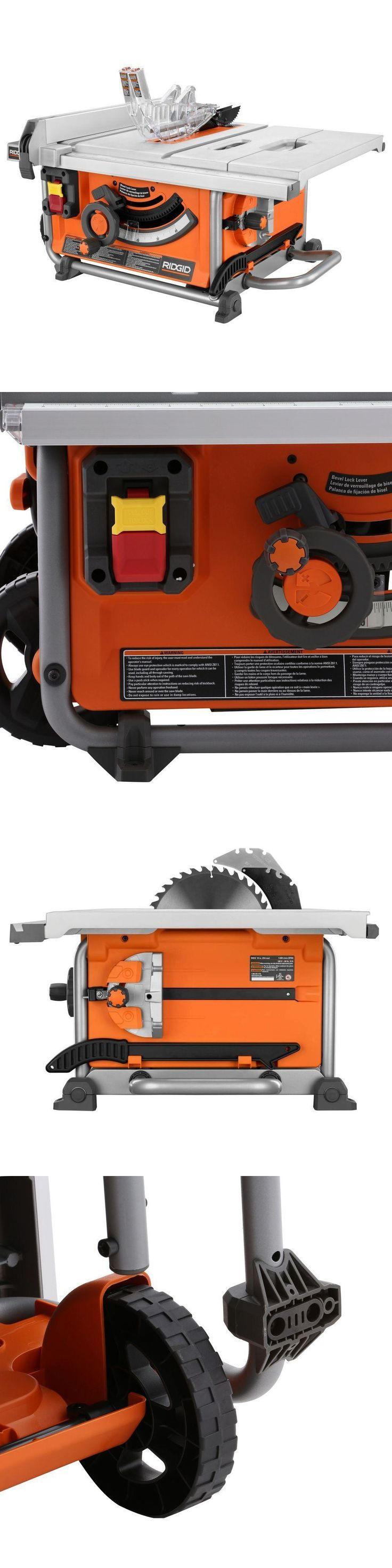 Table Saws 122835: Ridgid 15 Amp 10 In.Compact Table Saw Dual-Locking Rip Retractable Handle Orange -> BUY IT NOW ONLY: $263.26 on eBay!