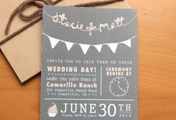 Inexpensive Wedding Invitation Ideas: 26 Best Wedding Invitations...affordable, Fun And Unique
