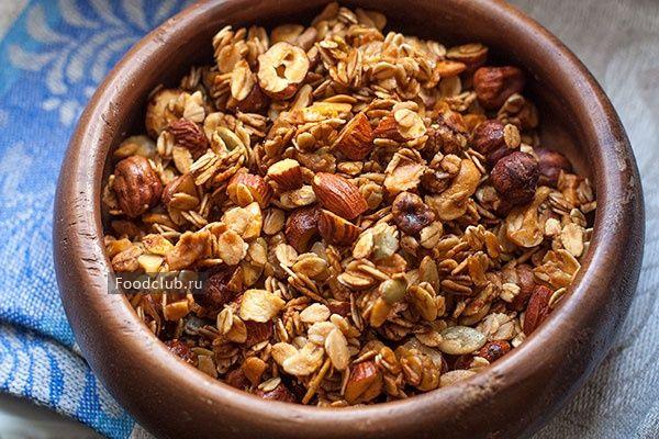 Ореховая гранола с мёдом