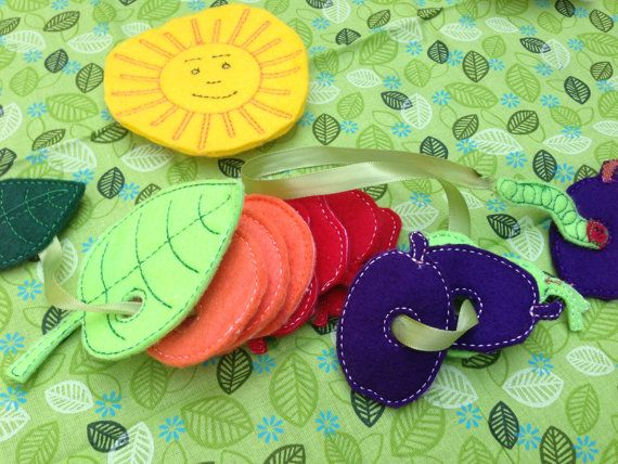 """Very Hungry Caterpillar Inspired Lacing Game by RosieKEmbroidery. Fine motor control, lacing game based on the book """"the very hungry caterpillar"""". $15+"""