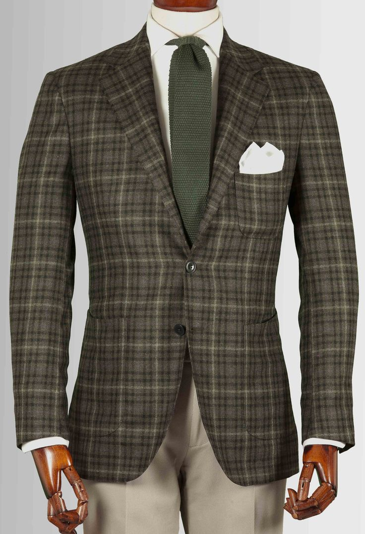 Green/black Checked Jacket