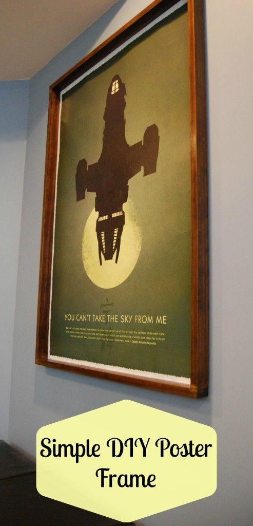 Simple DIY Poster Frame :http://www.thehandymansdaughter.com/2015/05/04/simple-diy-poster-frame/