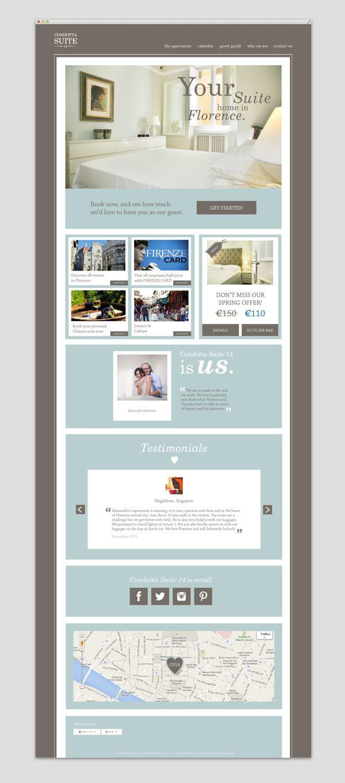 Website design for Condotta Suite 14, Florence by Nicole Giuliattini, via Behance
