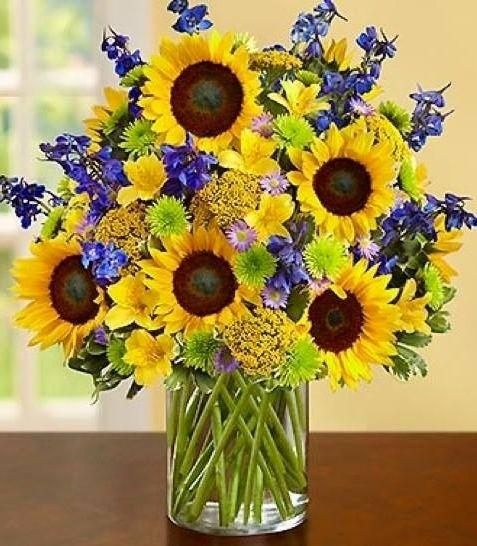 Sunflowers via Carol's Country Sunshine on Facebook