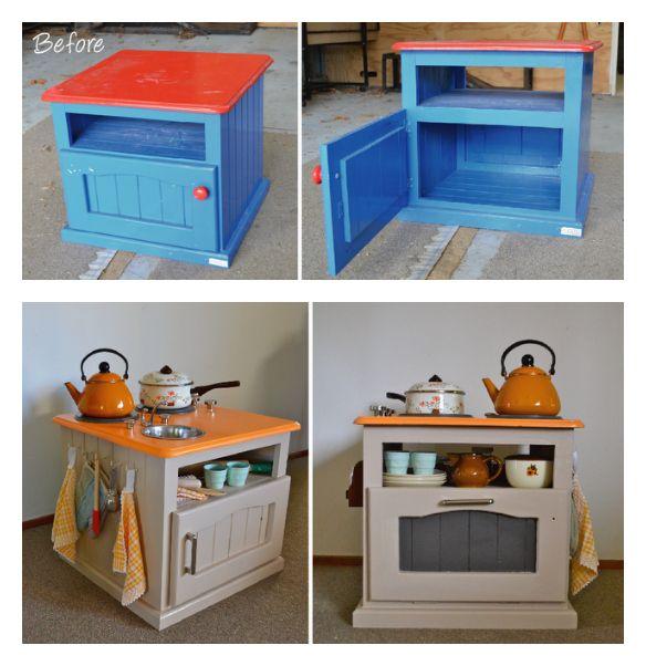 Oude meubels worden kinderspeelgoed