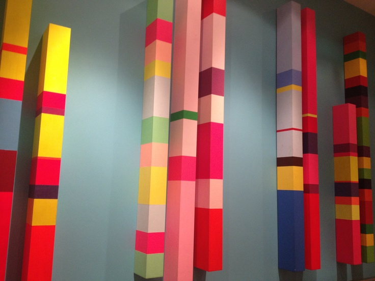 Colorful Stairwell Art at Soho hotel, London