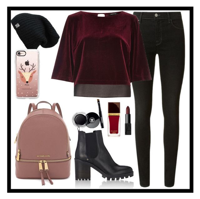 """""""Sin título #138"""" by alice-isabella on Polyvore featuring moda, J Brand, River Island, Barneys New York, Casetify, NARS Cosmetics, Tom Ford y Chanel"""