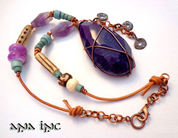 Bohemia collar collar de afrocentric joyas africanas por anainc