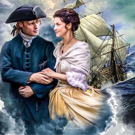 Outlander  Outlander Season 3 Claire & Jamie Fraser Caitriona Balfe  Sam Heughan