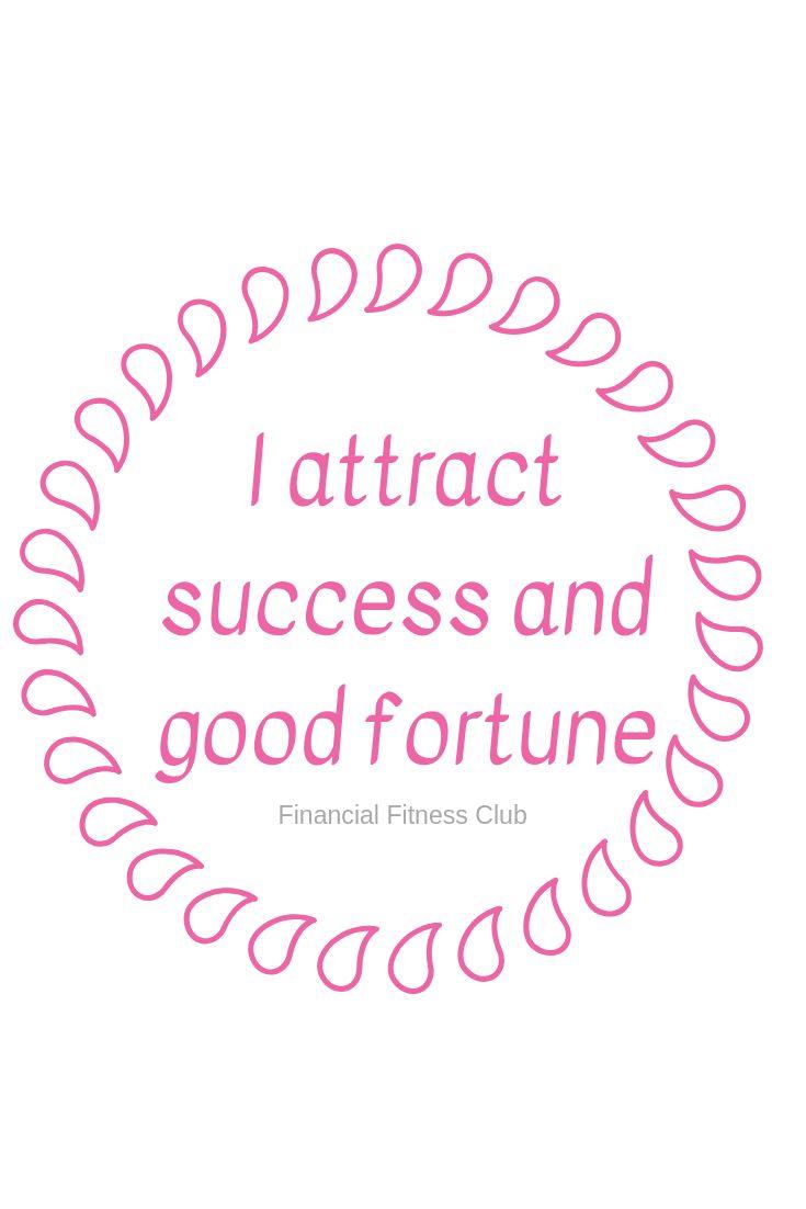 "Business success affirmation ""I attract success an…"