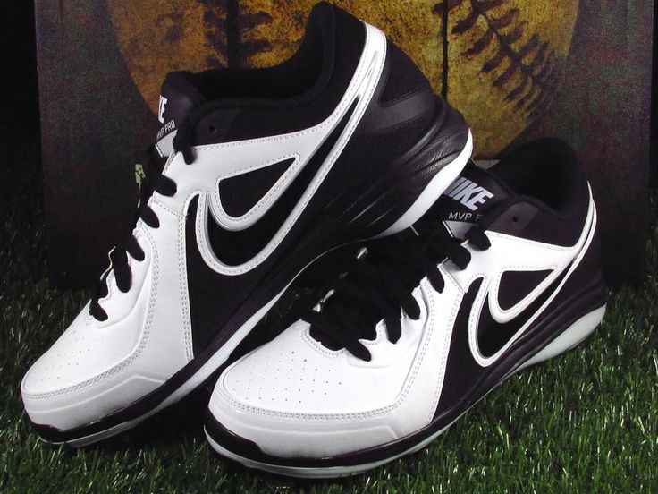 Nike Air MVP Pro Low Metal Baseball Cleats Mens Size 10 White/Black #Nike #LowMetalBaseballCleats