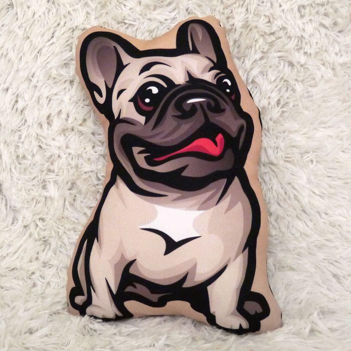 Piesek Buldog Francuski beżowy Poduszka Przytulanka Maskotka – Cena   sklep internetowy Psiakrew