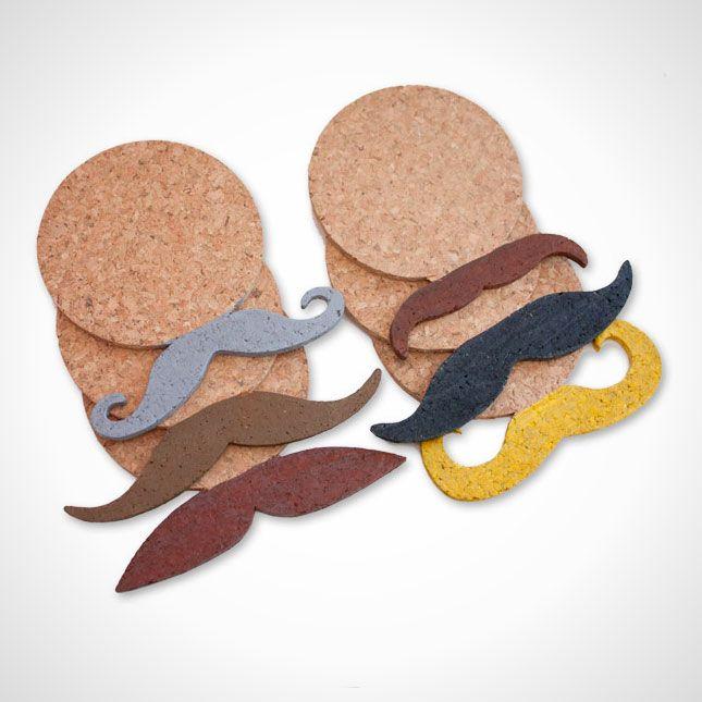 Mustache coasters—perfect for Movember!