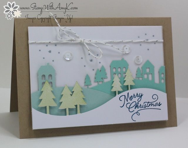 My November Paper Pumpkin Kit just arrived from Stampin' Up! and I tore right in.  I love this one!!  I did a little modification to turn the project into a standard notecard size, let me kno…