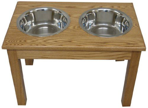 Classic Pet Beds 2-Bowl Traditional Style Ash Pet Diner, Large, Walnut * Read more info by clicking the link on the image. #DogFeedingWateringSupplies