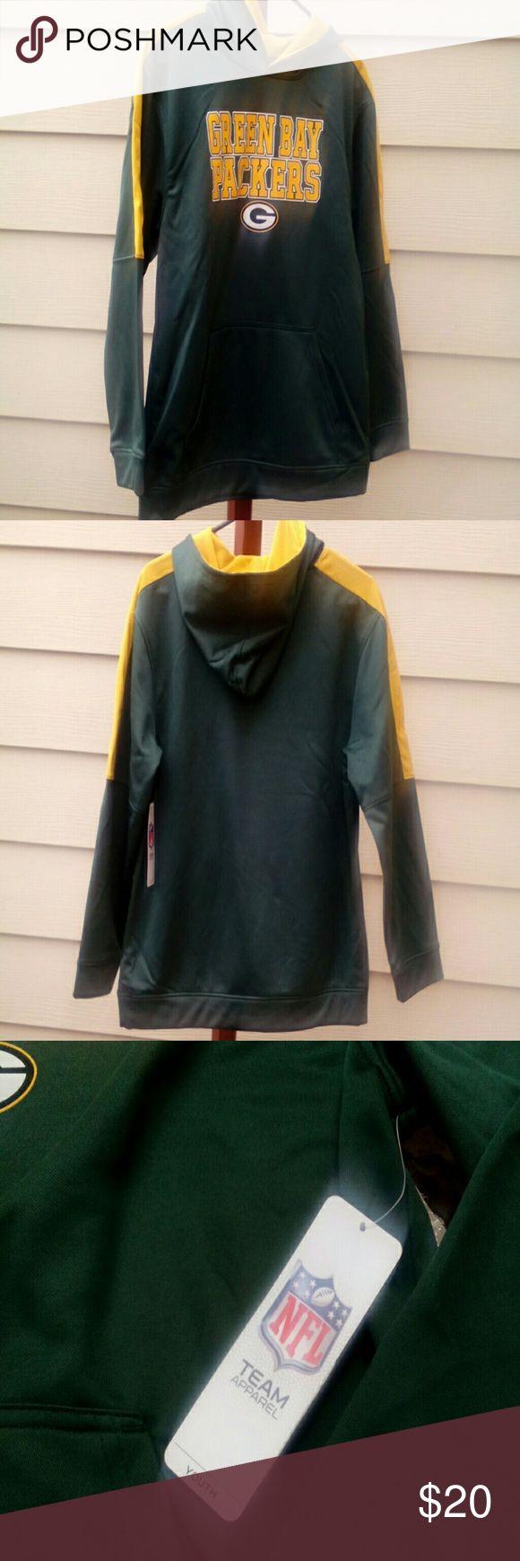 Youth Green Bay Packer hoodie NWT, smoke free home youth xxl(18) NFL Team Apparel Shirts & Tops Sweatshirts & Hoodies