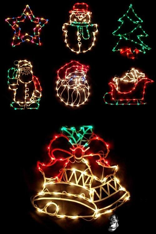 Christmas Light Up Window Decorations