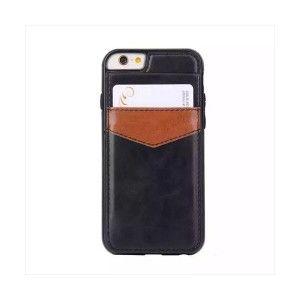 スマホケース スマホカバー iPhoneケース ポケット付き 折りたたみ バイカラー レザー 革 カード収納 BK